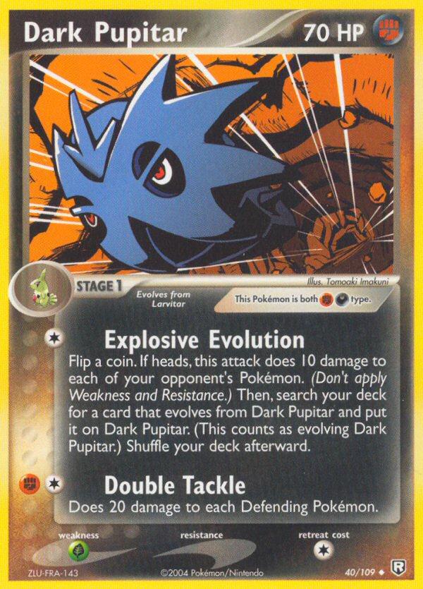 2004 EX Team Rocket Returns Dark Pupitar Reverse Foil