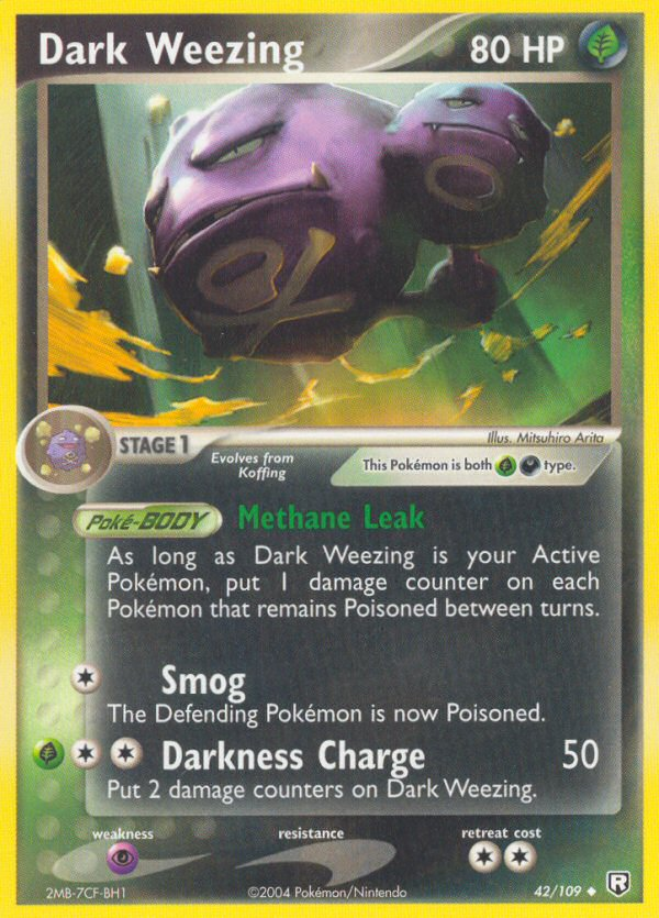 2004 EX Team Rocket Returns Dark Weezing Reverse Foil