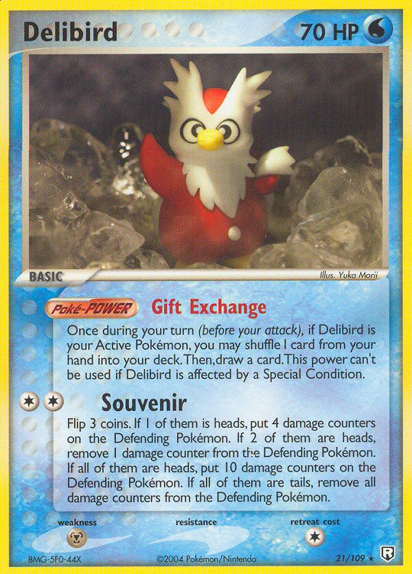 2004 EX Team Rocket Returns Delibird