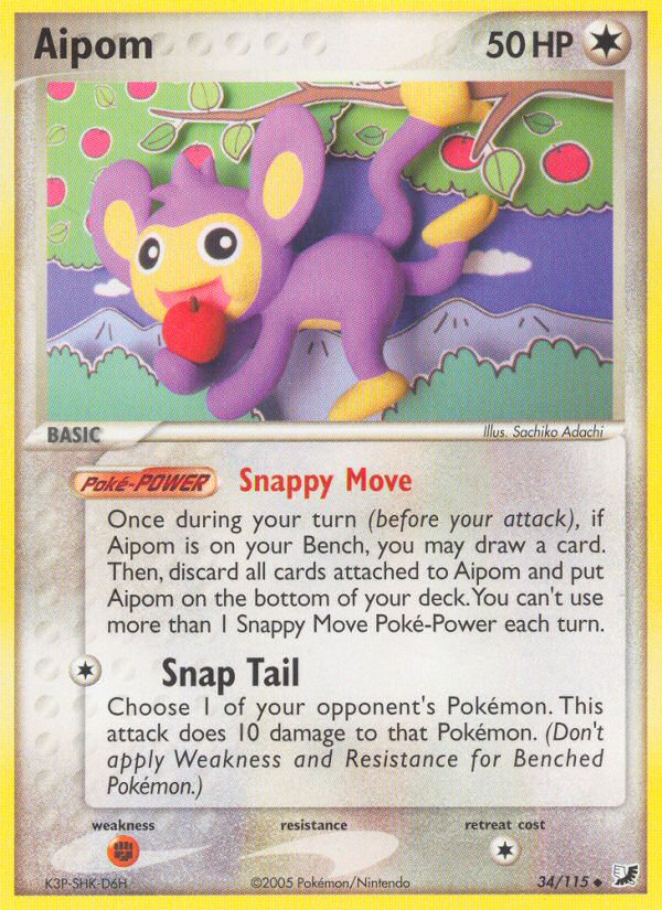 2005 EX Unseen Forces Aipom Reverse Foil