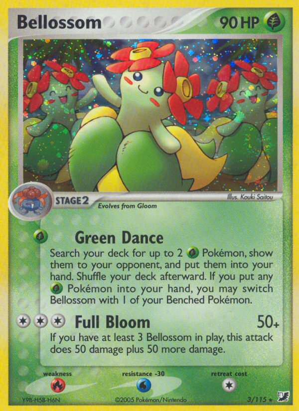 2005 EX Unseen Forces Bellossom Reverse Foil