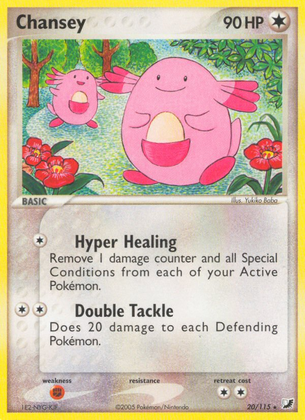 2005 EX Unseen Forces Chansey