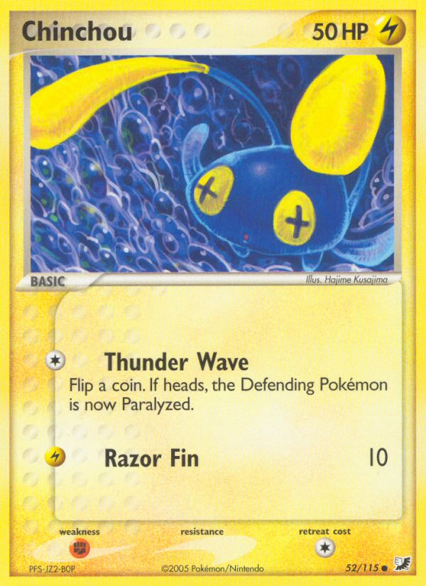 2005 EX Unseen Forces Chinchou