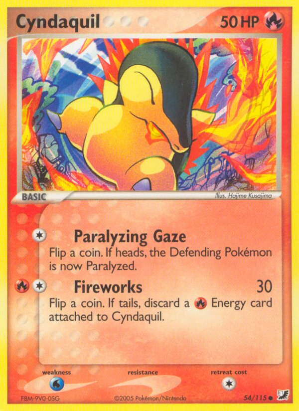 2005 EX Unseen Forces Cyndaquil Reverse Foil