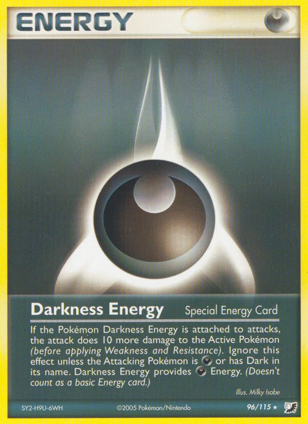 2005 EX Unseen Forces Darkness Energy