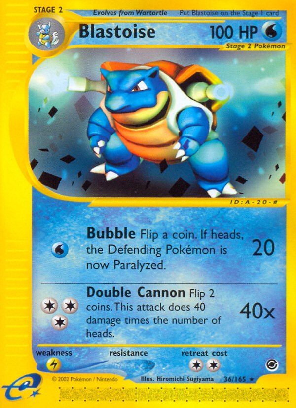2002 Expedition Base Set Blastoise