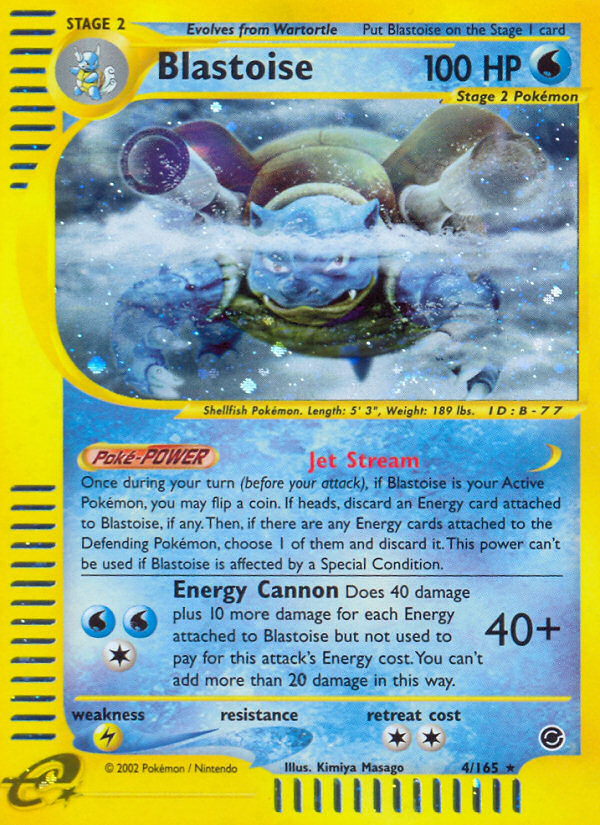 2002 Expedition Base Set Blastoise   Holo