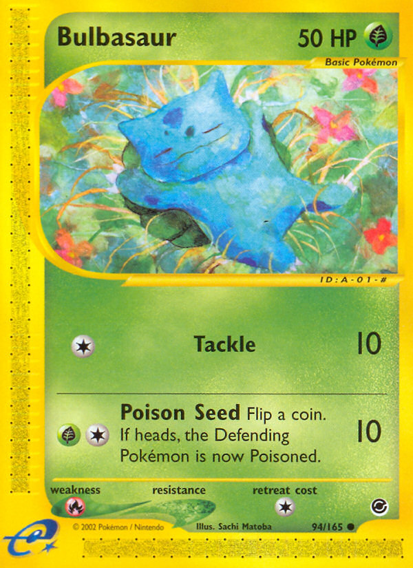 2002 Expedition Base Set Bulbasaur Reverse Foil