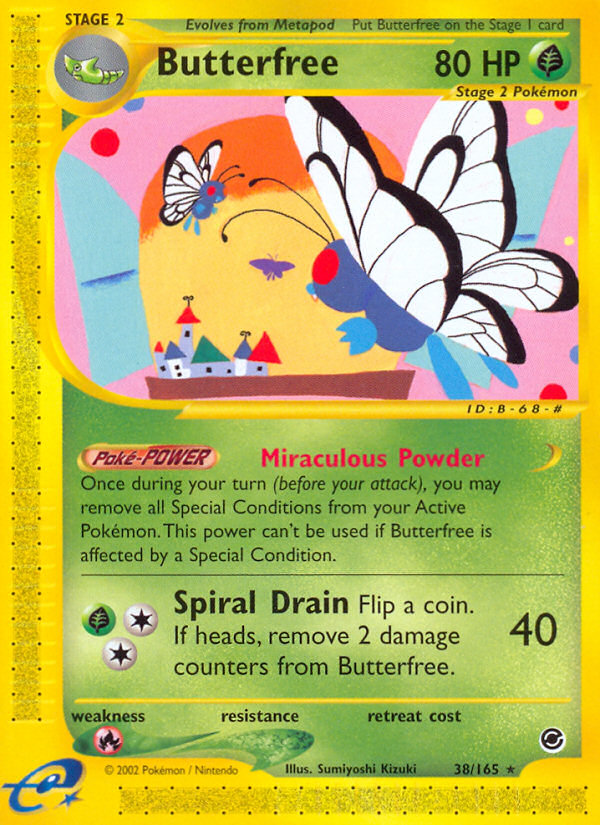 2002 Expedition Base Set Butterfree Reverse Foil