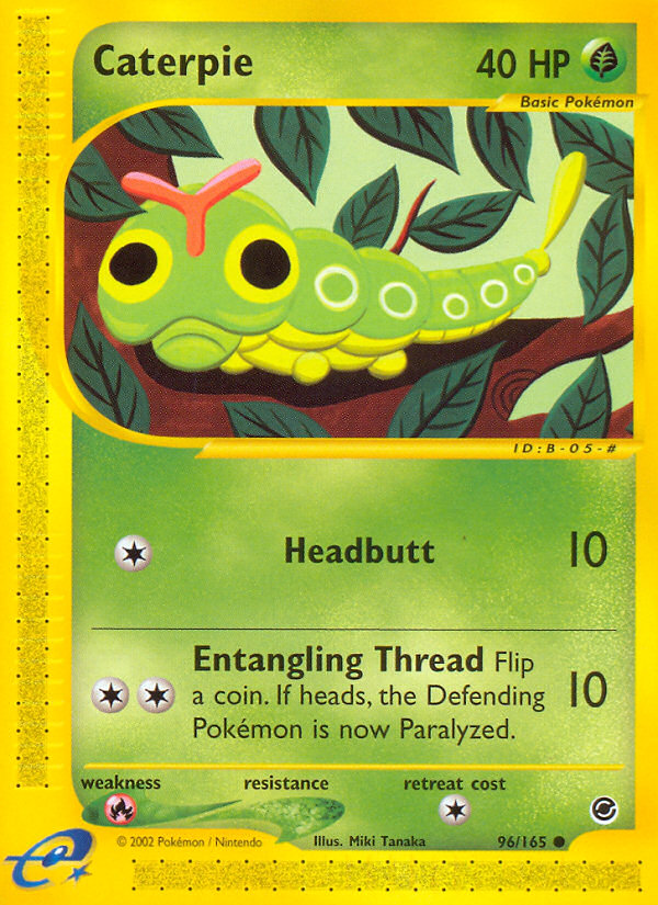 2002 Expedition Base Set Caterpie