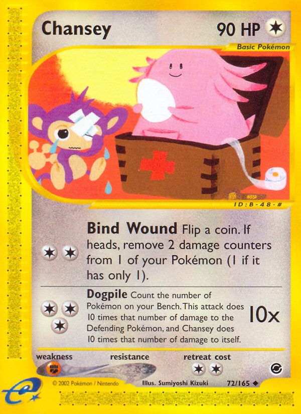 2002 Expedition Base Set Chansey Reverse Foil
