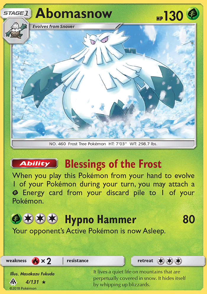 2018 Forbidden Light Abomasnow Reverse Foil