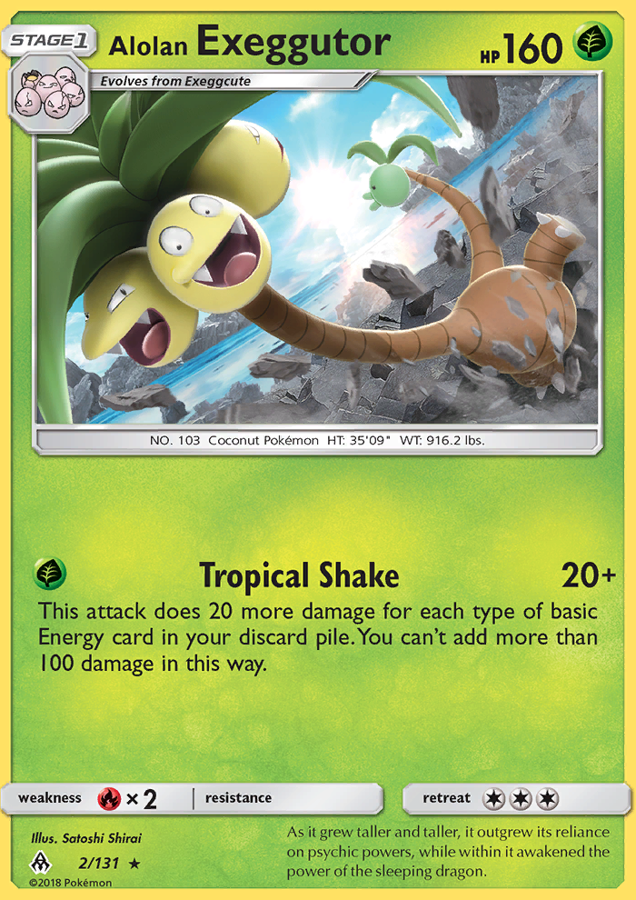 2018 Forbidden Light Alolan Exeggutor