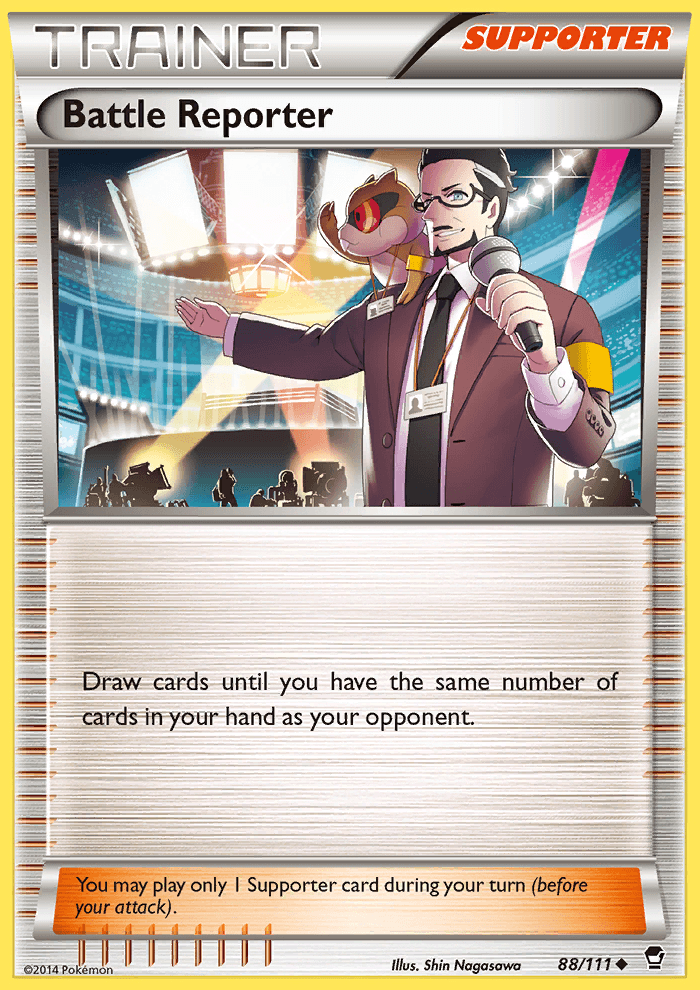 2014 Furious Fists Battle Reporter Crosshatch Holo Pokemon League