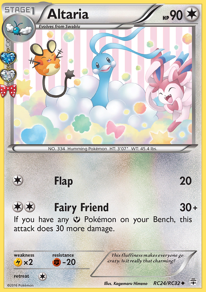 2016 Generations Radiant Collection Altaria