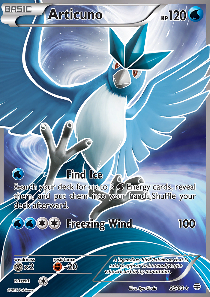 2016 Generations Articuno/Full Art   Holo