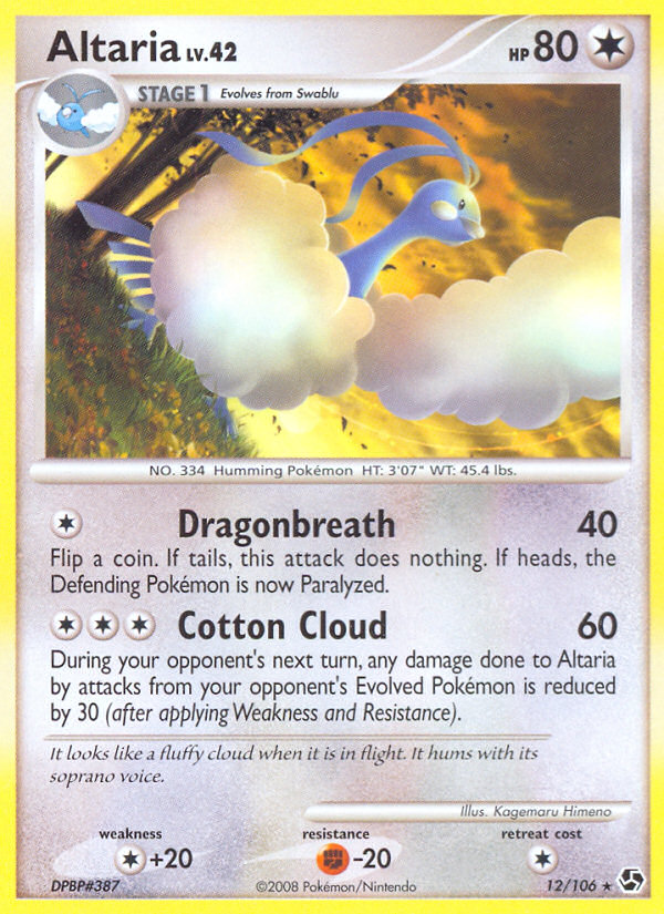 2008 Great Encounters Altaria Reverse Foil