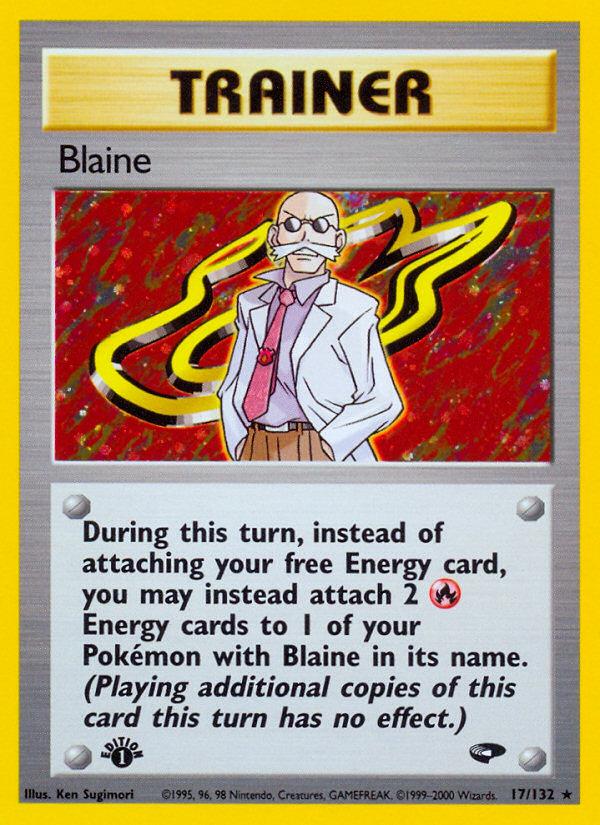2000 Gym Challenge Blaine 1st Edition  Holo