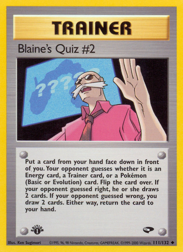 2000 Gym Challenge Blaine's Quiz #2 1st Edition