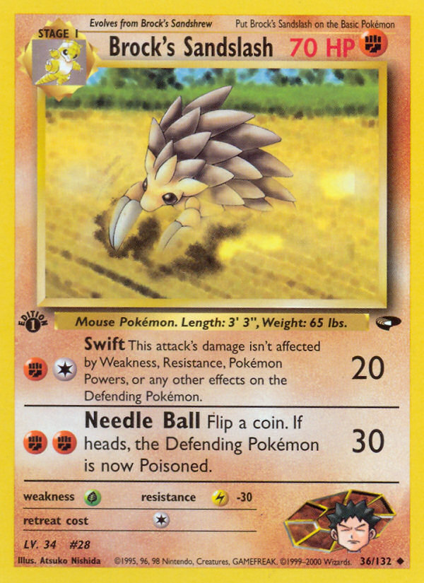 2000 Gym Challenge Brock's Sandslash