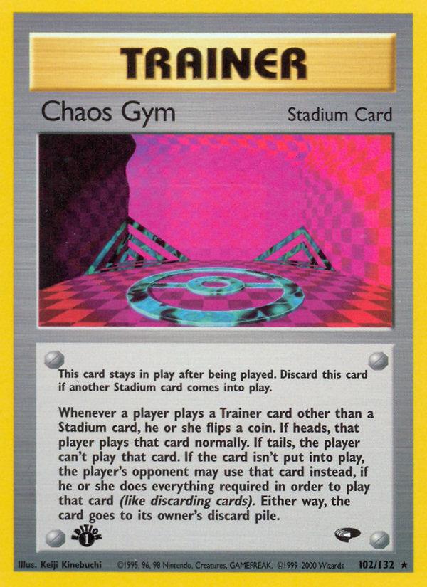2000 Gym Challenge Chaos Gym 1st Edition