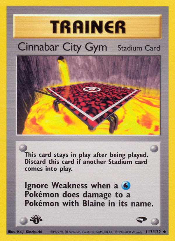 2000 Gym Challenge Cinnabar City Gym 1st Edition