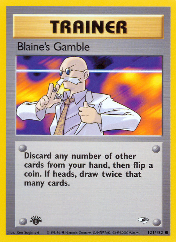2000 Gym Heroes Blaine's Gamble 1st Edition