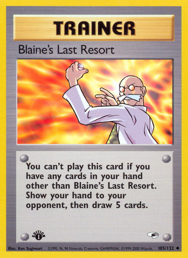 2000 Gym Heroes Blaine's Last Resort 1st Edition