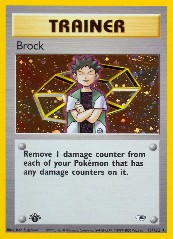 2000 Gym Heroes Brock   Holo