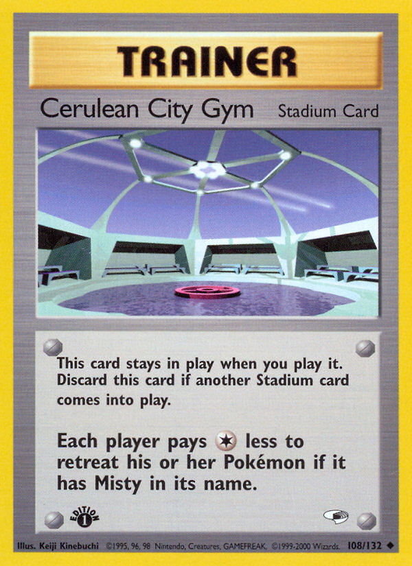 2000 Gym Heroes Cerulean City Gym 1st Edition