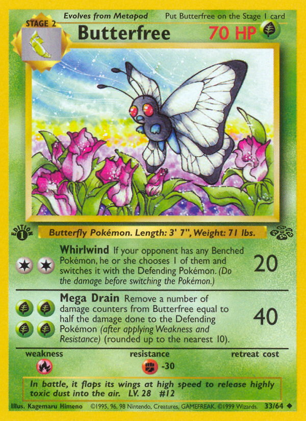 "1999 Jungle Butterfree ""D"" Edition Error"