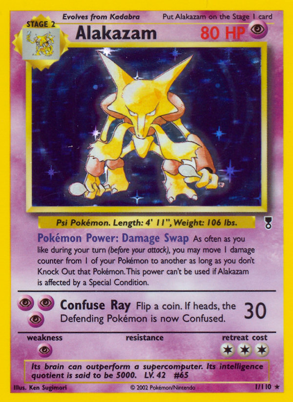 2002 Legendary Collection Alakazam Reverse Foil