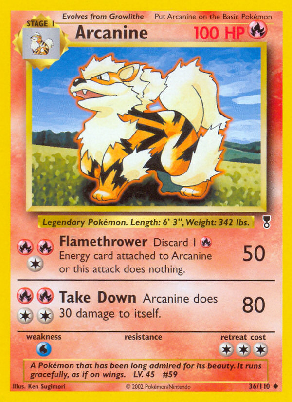 2002 Legendary Collection Arcanine