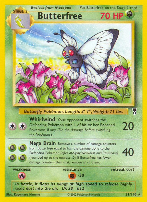 2002 Legendary Collection Butterfree