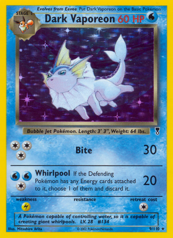 2002 Legendary Collection Dark Vaporeon   Holo
