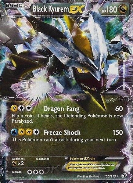 2013 Legendary Treasures Black Kyurem EX   Holo