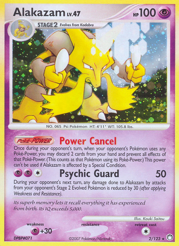 2007 Mysterious Treasures Alakazam   Holo