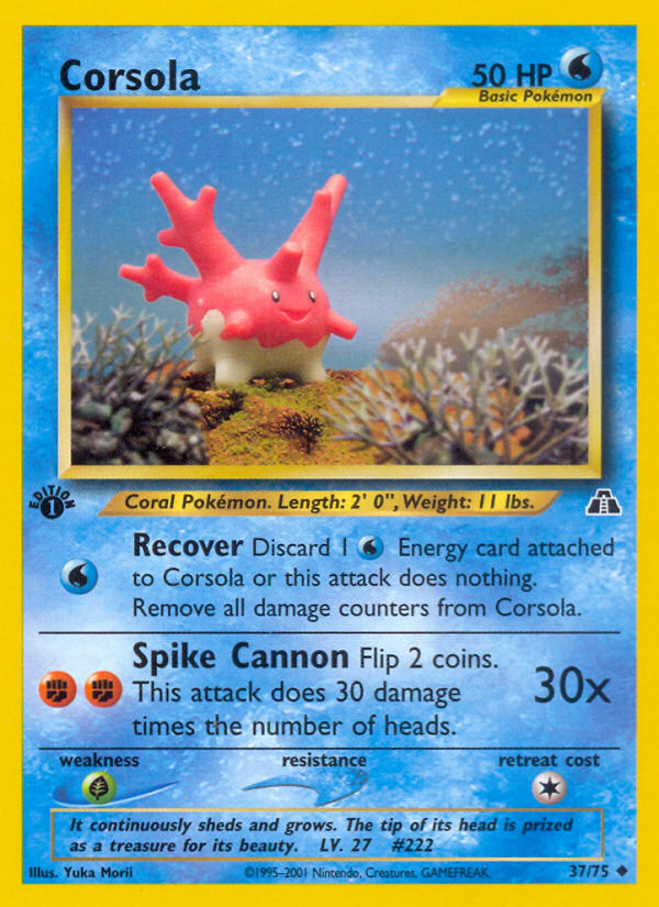 2001 Neo Discovery Corsola 1st Edition