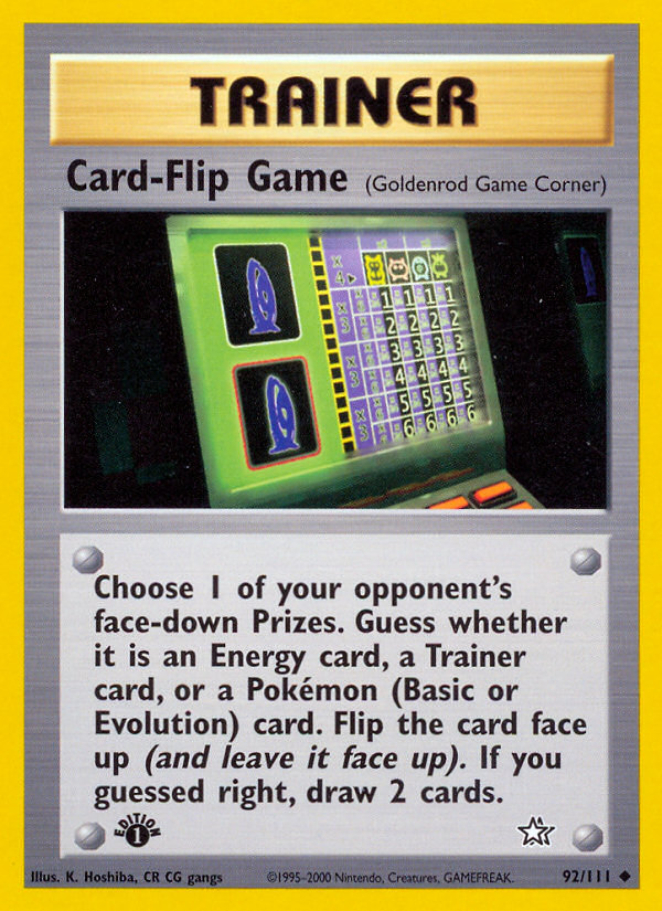 2000 Neo Genesis Card-Flip Game 1st Edition