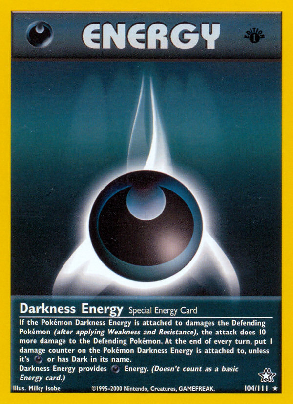 2000 Neo Genesis Darkness Energy 1st Edition