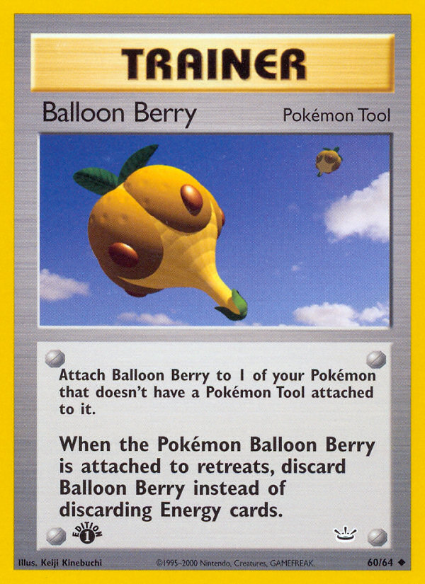 2001 Neo Revelation Balloon Berry 1st Edition