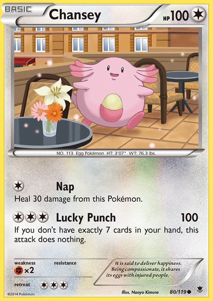2014 Phantom Forces Chansey Reverse Foil