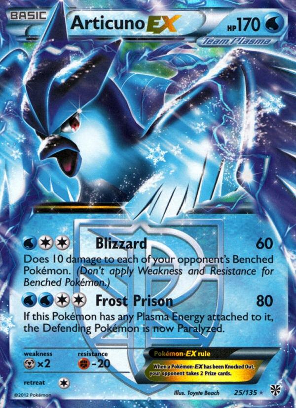 2012 Plasma Storm Articuno EX   Holo