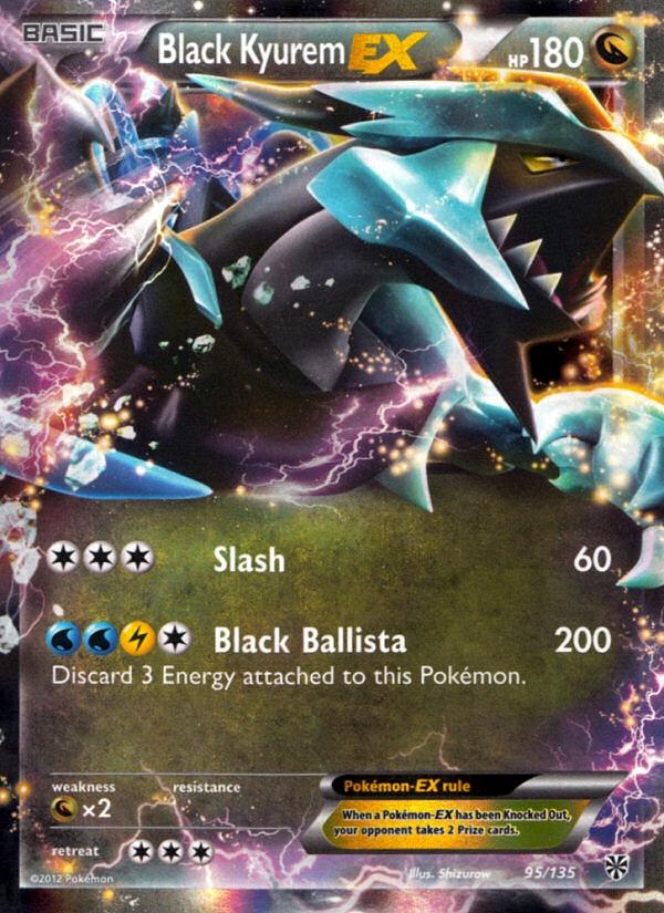 2012 Plasma Storm Black Kyurem EX   Holo
