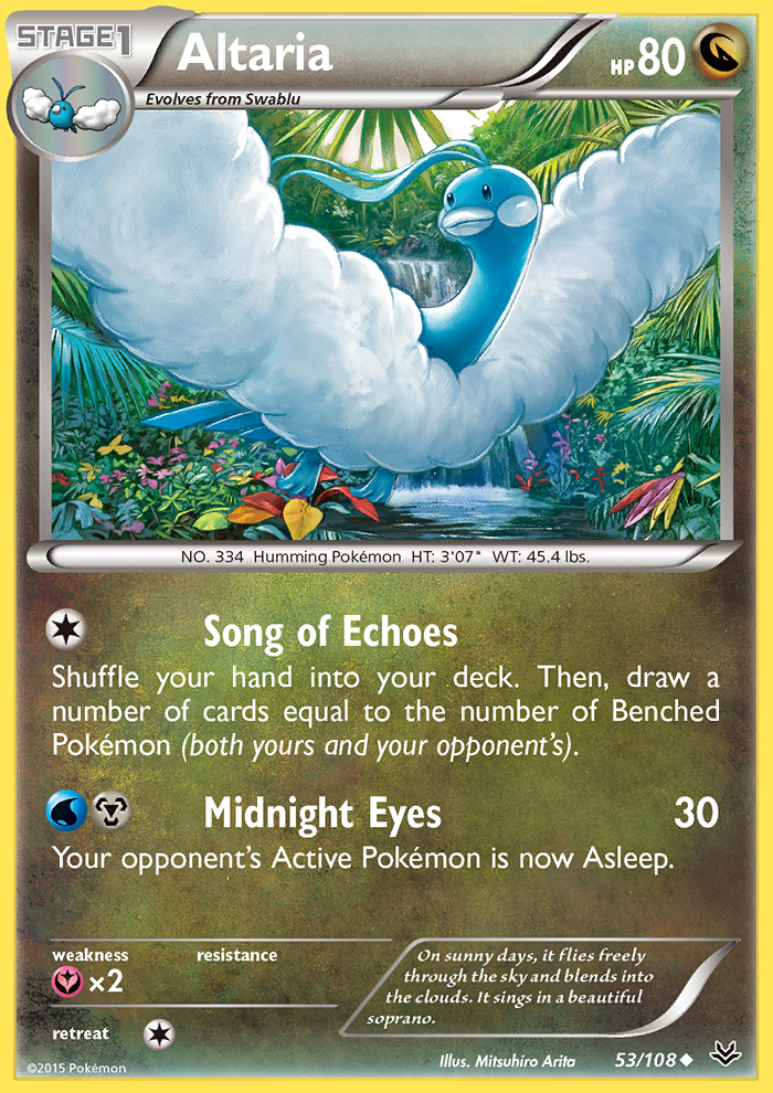 2015 Roaring Skies Altaria-Reverse Holo Reverse Holo