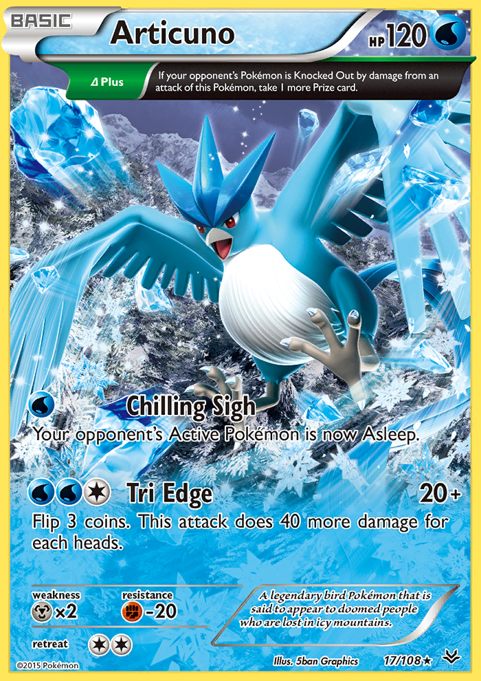 2015 Roaring Skies Articuno Reverse Holo