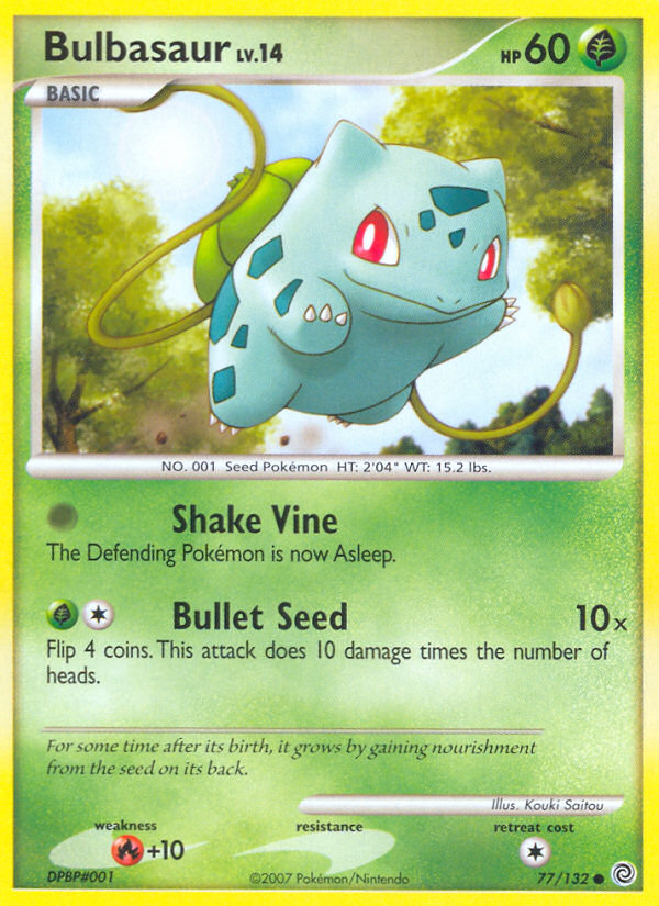 2007 Secret Wonders Bulbasaur