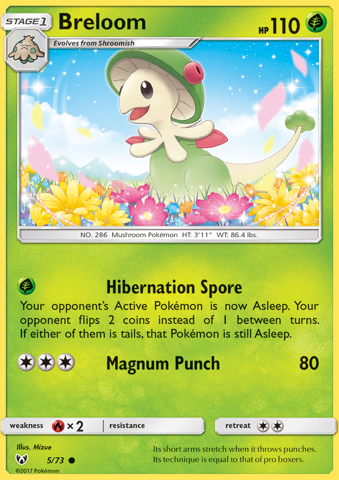 2017 Shining Legends Breloom