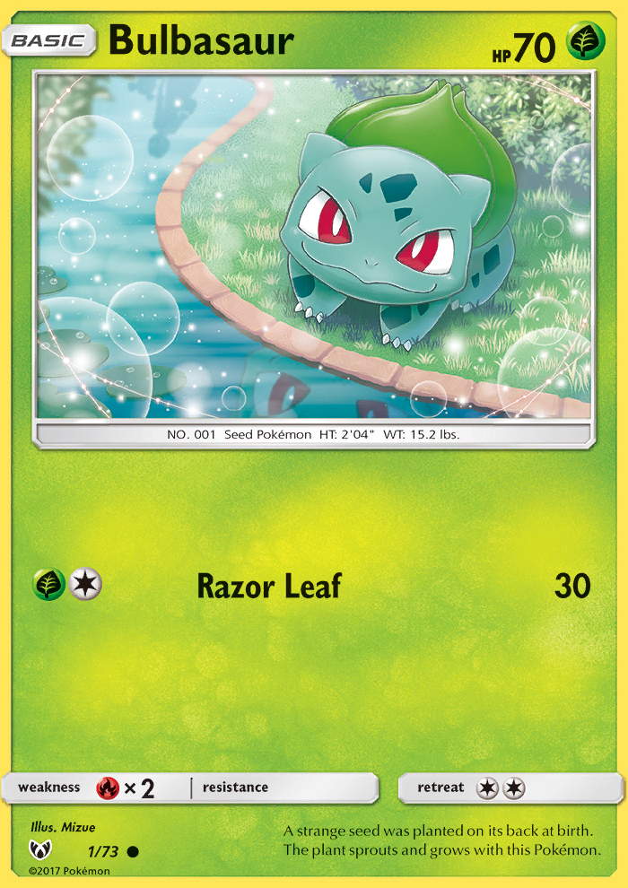 2017 Shining Legends Bulbasaur