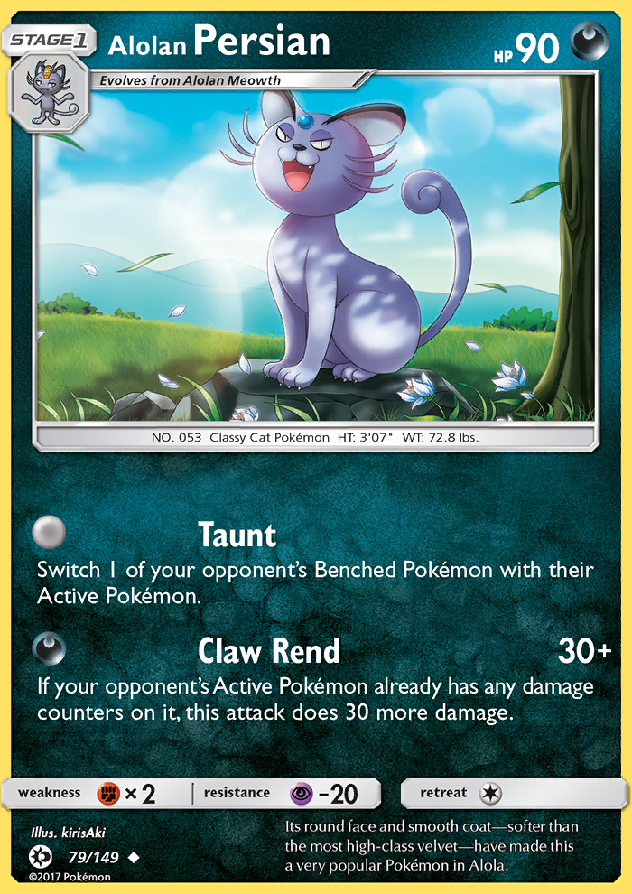 2017 Sun & Moon Alolan Persian